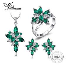 sterling silver rings necklace images Buy jewelry mystic green created emerald jewelry jpg