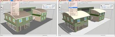 changing shadows and display settings in sketchup desktop viewer