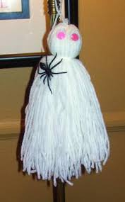 How To Make Little Ghost Decorations Kid Activities How To Make Yarn Dolls