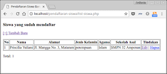 membuat database sederhana menggunakan xp tutorial php dan mysql membuat aplikasi crud studi kasus