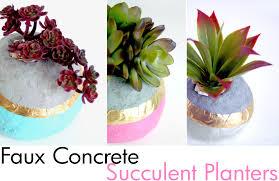 faux concrete succulent planters the scrap shoppe