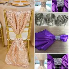 image result for chair and chair sash pink and gold