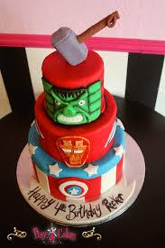 birthday cake boy 3 tier superhero super hero u2013 pixy cakes