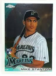 giancarlo stanton marlins jpg 2010 topps chrome 190 giancarlo stanton rookie card marlins mvp