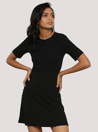 buy new look short sleeves rib skater dress for women women u0027s