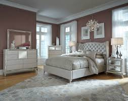 Furniture Light Grey Upholstered Bed With Tufted Headboars Plus - White leather headboard bedroom sets