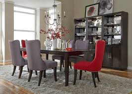 Red Dining Room Table Saber Legs Dining Table With Solids Poplar Wood And Satin Espresso