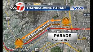 info thanksgiving parade closures kvia