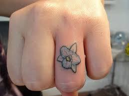 flower tattoo ring 40 fingers tattoos for mens