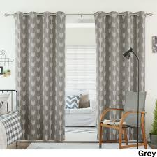 aurora home arrow room darkening blackout grommet 84 inch curtain