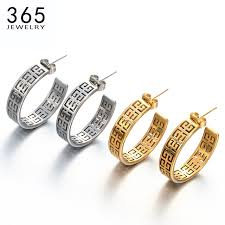 Engraving Jewelry Fashion Classical Hollow Out Engraving Jewelry Gold Color 316l