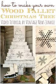 diy wood pallet christmas tree two video tutorials u0026 huge