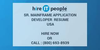 Sample Resume For Mainframe Production Support by Sr Mainframe Application Developer Resume Usa Hire It People