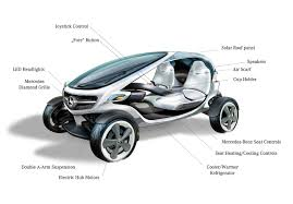 mercedes benz unveil hub motor powered vision golf cart electric