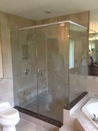 Large Shower Doors Looking Glass Company Frameless Shower Enclosures