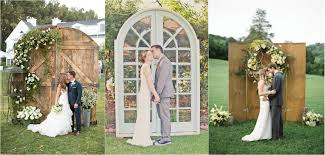 wedding backdrop altar 35 rustic door wedding decor ideas for outdoor country