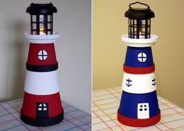best 25 clay pot lighthouse ideas on pinterest to light light