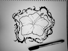 style hibiscus flower tattoo design polynesian designs 26857 jpg