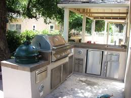 outdoor kitchen ideas stainless steel natural gass grill red