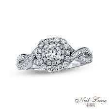 Neil Lane Wedding Rings by Neil Lane Bridal Collection 3 4 Ct T W Diamond Vintage Style