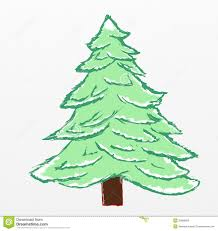 christmas tree sketch stock illustration image of sketch 35868658