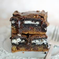 chocolate chip cookie n u0027 oreo fudge brownie bars 5boysbaker
