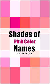 shades of light pink shades of pink you can pick your favourite pink colour and play with