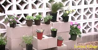 how to build a cinder block garden wall lovina village