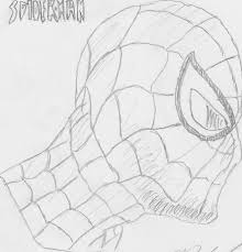 spiderman face pencil drawing i really liked drawing spider man