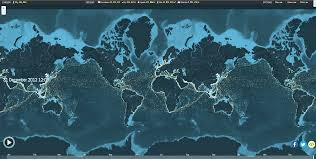 United Interactive Route Map by You U0027ve Got No Idea About The Scale Of Global Shipping But This