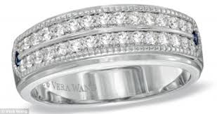 wedding band costs giving husbands the bling factor vera wang launches diamond