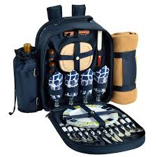 at ascot deluxe equipped 4 person picnic backpack with cooler