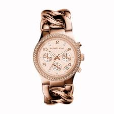 rose tone stainless steel bracelet images Chronograph runway twist rose gold tone stainless steel bracelet jpg