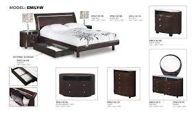 Emily Bedroom Furniture Emily Wenge Glossy Bedroom Set By Global Furniture