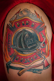 cross shoulder tattoo firefighter tattoo images u0026 designs