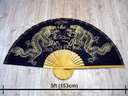 bamboo fan 5ft thai fan painted silk bamboo in southall london