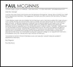 cover letter for apprenticeship leaver cover letter