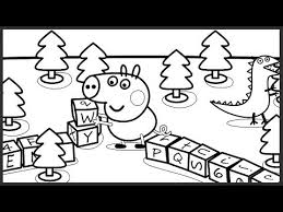 peppa pig george plays game coloring book pages video kids
