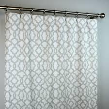 light french gray white sheffiled trellis curtains rod