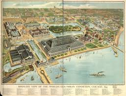 City Map Of Chicago by Bird U0027s Eye View Of The World U0027s Columbian Exposition Chicago 1893