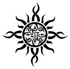tribal sun symbol from itattooz