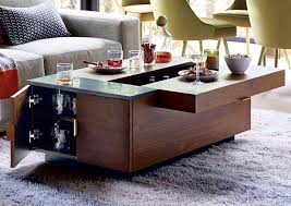 Living Room Table With Storage Hyde Storage Secret Mini Bar Coffee Table So That S Cool