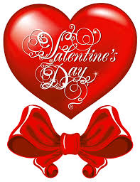 valentines day heart and red bow png clipart picture gallery