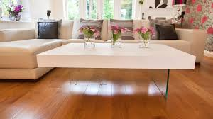 large glass coffee table large modern white oak coffee table funky tempered clear glass legs