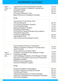 writing a theoretical paper research proposal and grant proposal writing workshop workshops schedule