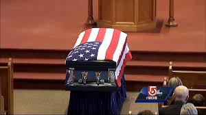 Mass State Flag Thousands Attend Funeral For Fallen Mass State Police Trooper