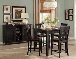Homelegance Three Falls Rectangular Dining Table Two Tone Dark - Counter height dining table in black