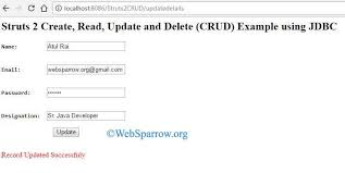 2 create read update and delete crud example using jdbc