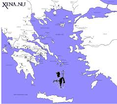 Ithaca Map Kingdoms And City States Of Greece