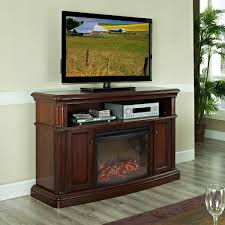pleasant hearth linton electric media fireplace cherry finish